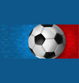 soccer web banner of special sport event vector image vector image