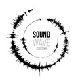 sound wave spiral form on vector image vector image