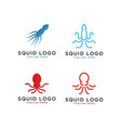 squid logo design template vector image vector image