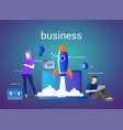 successful startup business concept vector image vector image