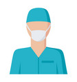 surgeon icon vector image vector image