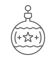 tree ball thin line icon christmas and new year