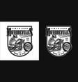 vintage custom motorcycle monochrome label vector image vector image
