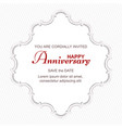 vintage postcard for an important anniversary vector image vector image