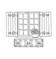 window potflower vector image vector image