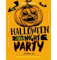 Halloween Boo poster vector image