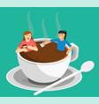 meeting coffee woman vector image