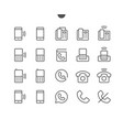 phones ui pixel perfect well-crafted thin vector image