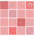 Seamless pattern its a girl Background baby girl vector image