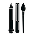 stationery icon simple black style vector image