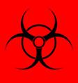 biohazard sign warning radiation hazard vector image