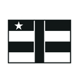 Central African Republic flag monochrome on white vector image