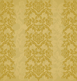 Background floral vertical stripe gold vintage vector image