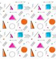 memphis design 80s geometric style seamless vector image