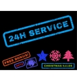 24H Service Rubber Stamp vector image vector image