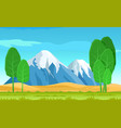 abstract salad trees and cute mountains landscape vector image