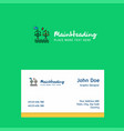 air turbine logo design with business card vector image vector image