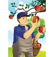 apple farmer vector image