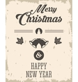 bell and leaves icon Merry Christmas design vector image