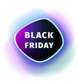 black friday smoothed banner with violet blue glow vector image vector image