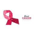 breast cancer awareness pink ribbon web banner vector image