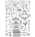 Calligraphic elements for design Big set vector image vector image