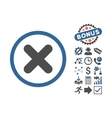 Cancel Flat Icon With Bonus vector image vector image
