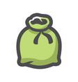canvas green sack icon cartoon vector image vector image