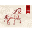 Chinese new year Horse hand drawn file vector image vector image