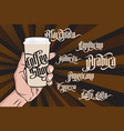 coffee gothic labels vector image vector image