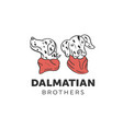 dalmatian dogs designs vector image vector image