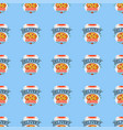 delivery pizza seamless pattern vector image