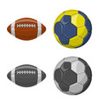 design of sport and ball icon set of sport vector image