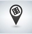 dice map pointer style is flat iconic symbols vector image
