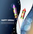 Diwali festival crackers vector image