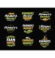 Farm logo Farmers market farming vector image vector image