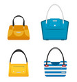 fashion bags set isolated flat design vector image