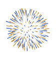 Firework isolated beautiful salute on white