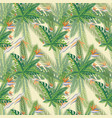 floral print tropical palm leaves seamless vector image vector image