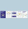 fresh business start startup launch camp brochure vector image vector image