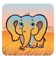 friendly elephant vector image