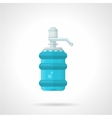 Full water bottle flat icon vector image vector image