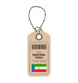 hang tag made in equatorial guinea with flag icon vector image vector image