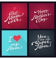 happy mothers day set lettering typography vector image vector image