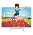 hurdling vector image