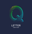 letter q latin alphabet display vector image vector image