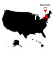 map us state new york vector image vector image