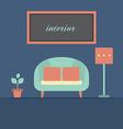 Modern Design Interior Sofa vector image vector image