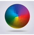 Multi color of circle vector image vector image
