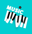 music background with keyboard keys and lp vinyl vector image vector image